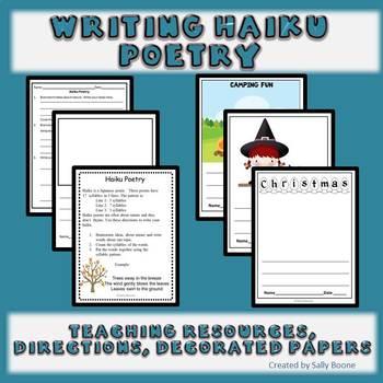 Writing Poetry Year Round Haiku