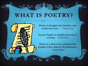 Poetry: Haiku, Cinquain, Rhyme Scheme, Limerick, Free Verse