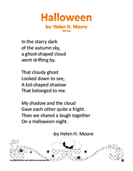 Poetry Halloween Poems For Teaching Elements Of Poetry Texas Teks Included