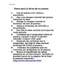 Poetry Homework Steps - Spanish