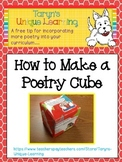 Poetry-   How to Make a Poetry Cube