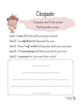 Poetry - How to write a Cinquain poem