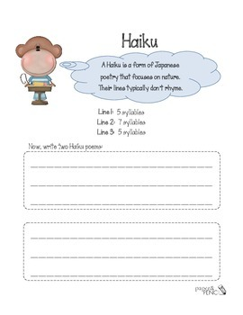 Poetry - How to write a Haiku poem