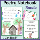 """Poetry """"I Can Read"""" Notebook (K-2) Growing Bundle: Poems,"""