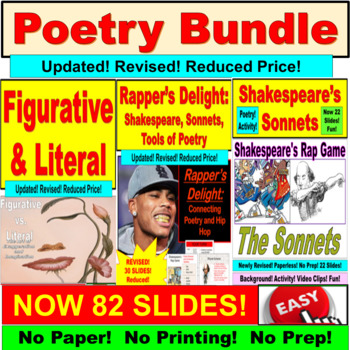 Poetry PowerPoint: Idioms, Figurative and Literal Language