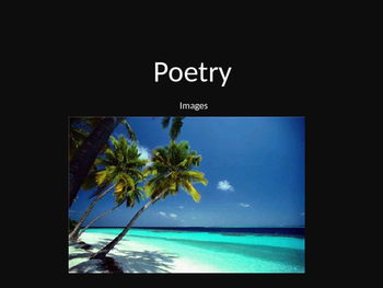 Poetry Image Writing