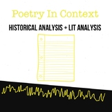 Poetry In Context Paper Assignment Sheet