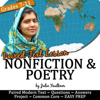 Malala Yousafzai Nonfiction Speech Mini Unit Lesson, Women's History