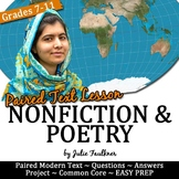 "Paired Text Lesson, Malala Yousafzai Nonfiction Speech and ""Brave"" Song"
