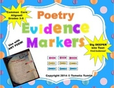 (Poetry) Interactive Close Reading Evidence Markers CCSS (Grades 3-8)