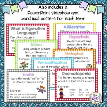 Figurative Language Interactive Notebook Reference Tool for Figurative Language