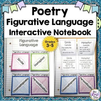 Figurative Language Interactive Notebook Poetry Figurative Language
