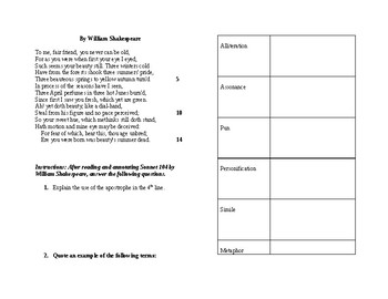 Poetry Interactive Notebook Inserts and Activities