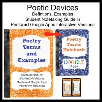 Poetry Interactive Notebook Printable and Google Apps