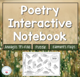Poetry Interactive Notebook Puzzle and Folding Graphic Organizer