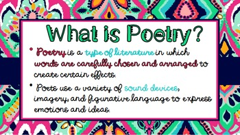 Poetry & Its Many Forms