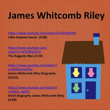 James Whitcomb Riley: Little Orphan Annie and The Raggedy Man, Sub Plan