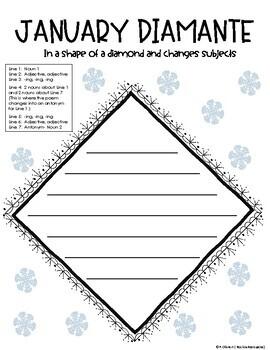 January Diamante Poem
