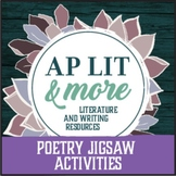 Poetry Jigsaw Activities