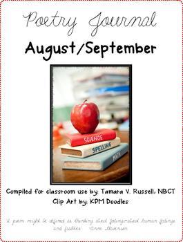 Poetry Journal August/September