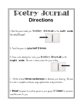 Poetry Journal Directions