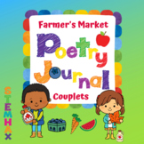 """Food Unit Poetry Journal """"Farmer's Market"""" 10 Couplet Rhyme Poems..."""