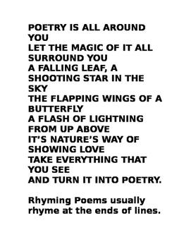 Poetry Journal Packet