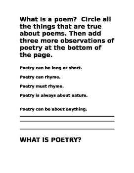 Poetry Journal Packet