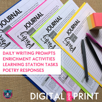 Poetry Journal Writing Prompts for Secondary Students