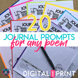 Poetry Analysis Journal Writing Prompts for Any Poem Digit