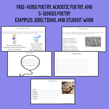Poetry Writing Basics for Kindergarten, First, and Second Grade with Powerpoint