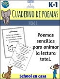 Poetry Journal or Notebook Set 1 {Spanish Dual Immersion}