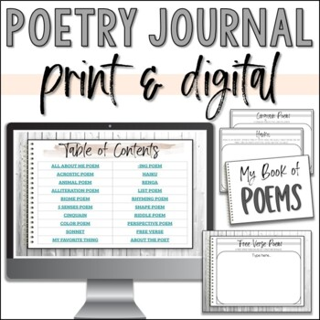 Poetry Journals for Elementary Writers