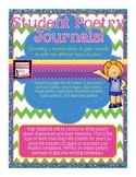 Poetry Journals for Students! Directions and Examples for TEN types of Poems!