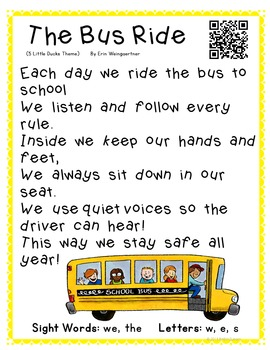 Poetry Kindergarten Shared Reading Free