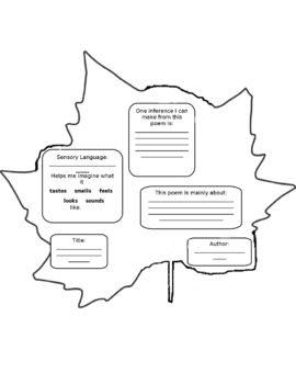 Poetry Leaf Critical Thinking Poetry Activity