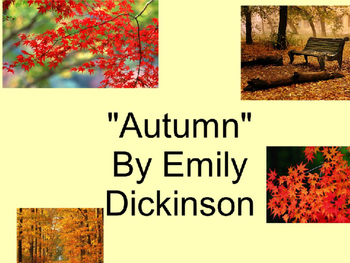 "Poetry Lesson- ""Autumn"""