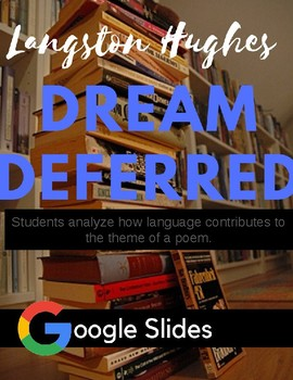 """Poetry Lesson """" Dreams"""" by Langston Hughes"""