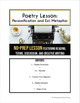 Personification and Extended Metaphor: High School Poetry Lesson and CW