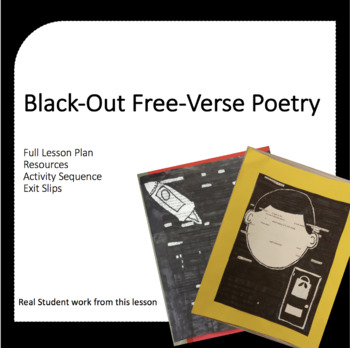 Poetry Lesson Plan: Black Out Free Verse Poetry