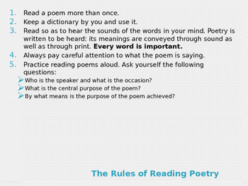 Poetry Lesson Plan: Grade 4 with 40 Slide Show