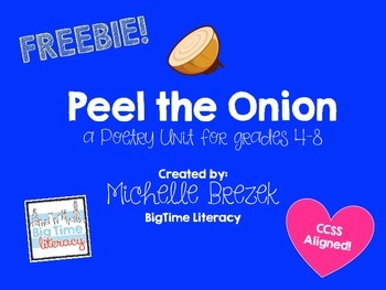 Peel the Onion: Poetry Unit Freebie