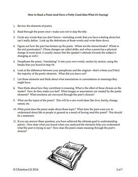 Poetry Lesson Plans: How To Teach Poetry For High School