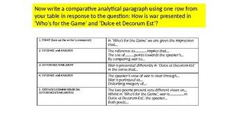 Poetry Lesson: 'Who's for the Game' and 'Dulce et Decroum Est' Comparison