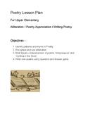 Poetry Lesson - for upper elementary