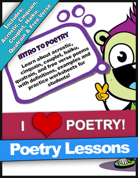Poetry Lessons | Acrostic, Cinquain, Couplet, Quatrain, Ha
