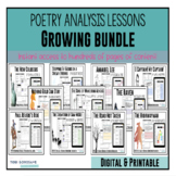 Poetry Lessons: ** Growing Bundle ** {Google Digital Resource}