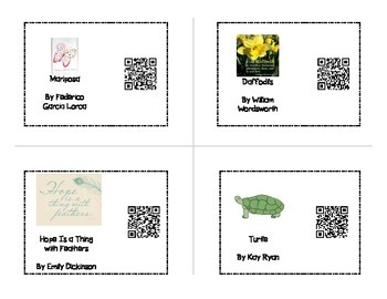 Poetry Listening Center with QR Codes
