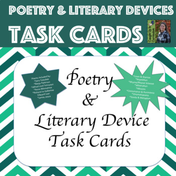 Poetry & Literary Devices Task Cards