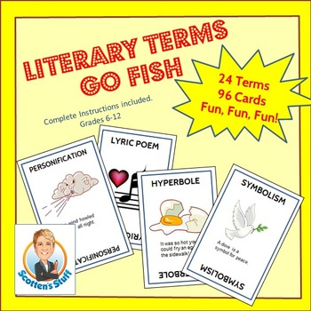 Poetry & Literary Terms Go Fish Game